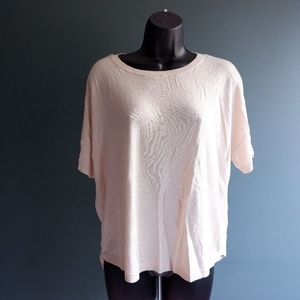 H&M basic beige loose top size S cream sweater